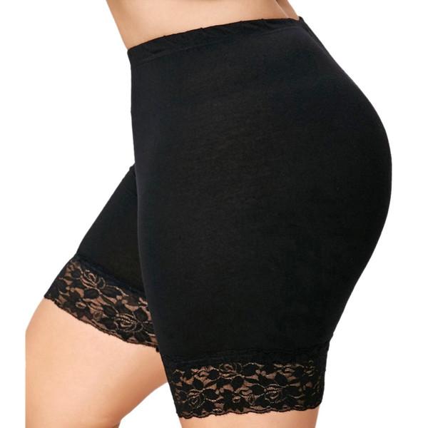 Mulheres de Algodão Macio Sem Costura de Segurança Calças Curtas Verão Quente Sob a Saia Shorts De Gelo De Seda Respirável Calças Justas Curtas Plus Size Venda Quente
