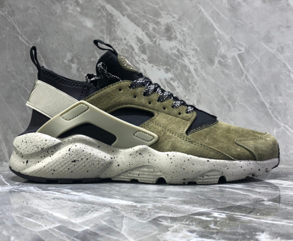 low priced b65b1 1456e 2019 Olive Green HUARACHE RUN PRM Running Shoes For Men 2019 Originals  Quality Huraches Sneakers Walking Shoes Size 39 44 From Esoccer, $63.05 |  ...