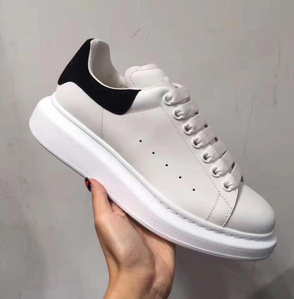 Alexander McQueens 2019 Chaussures Casual Hauteur Confort Confortant Jolie Fille Femmes Baskets Chaussures En Cuir Casual Hommes Femmes Baskets Extrêmement k872