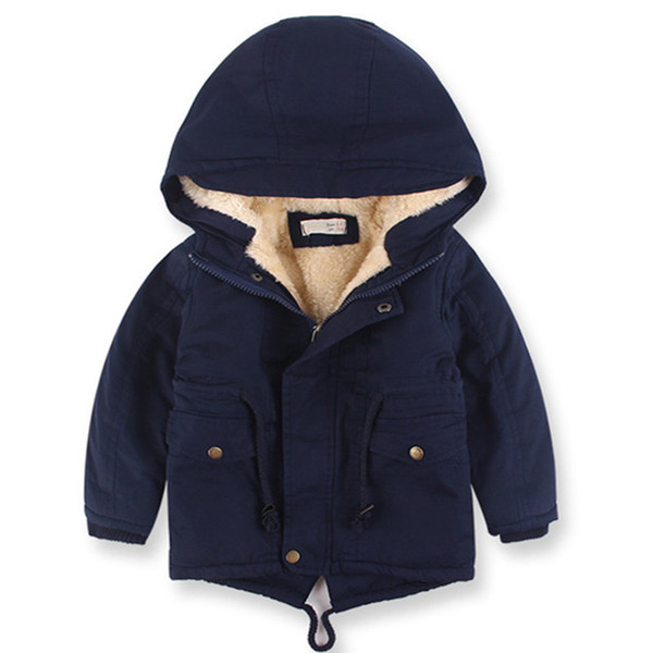 2019 New winter children down & parkas 2-9 Y European style boys girls warm outerwear color green blue hooded coats for girls