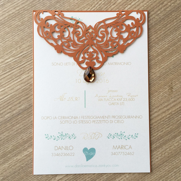 50Pcs /lot Wedding Invitation Card Envelop Unique Lace Gem Decoration With Valentine's Day Greeting Invitations Cards