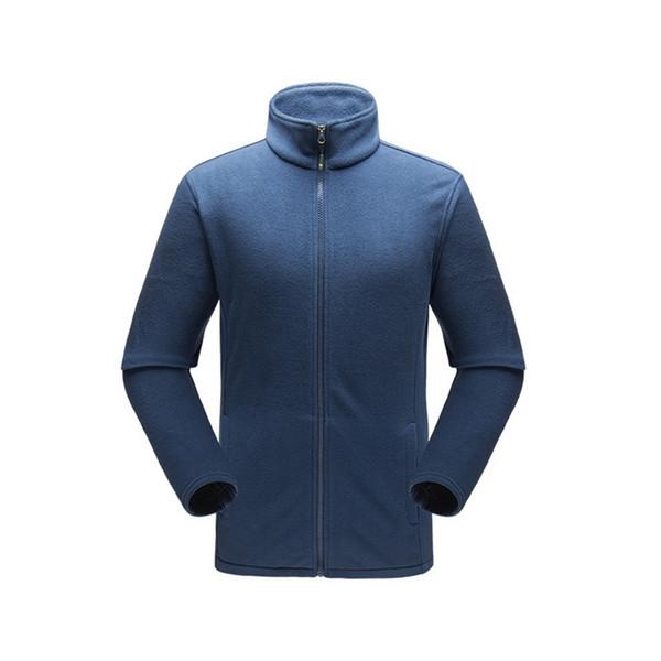 WENYUJH 2019 Estilo Outono Inverno dos homens Full-Zip Polar Quente Jaqueta de Manga Longa Ao Ar Livre Tops Jaqueta Masculino Blusão Sportswear
