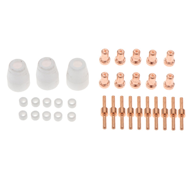 best selling 33Pieces Set Air Plasma Cutting Long Nozzle Long Electrode and Gas Ring with Ceramic Cup Accs Kit