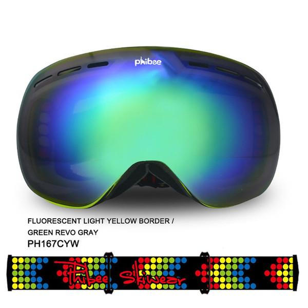 Crianças Óculos de Esqui Óculos de Esqui Óculos de Crianças Óculos de Patinação No Gelo Óculos de Snowboard UV400 Anti-fog Máscara de Esqui