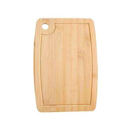 1 Pc Home Arc Shape Miniature Cutting Board Cheese Board Double Sides Available Bamboo Fruit Cake Tray Cooking Blocks (28x18cm)
