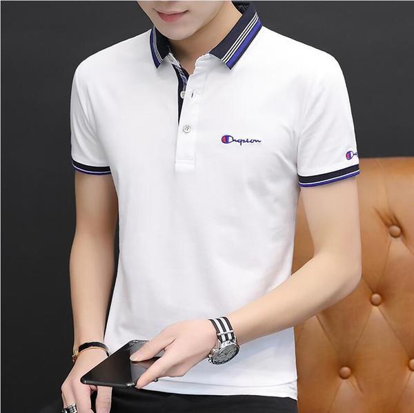 POLO2019 dos homens novos negócios de moda de verão marca de manga curta camisas