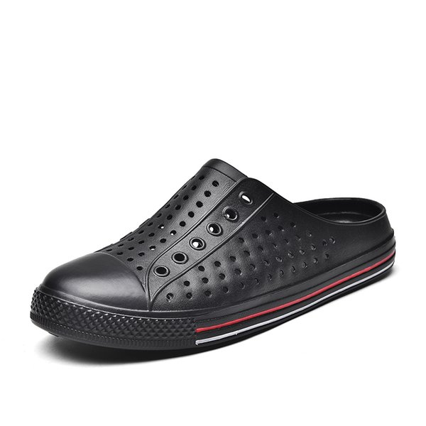 Hot Sale-Outdoor Casual Couple Beach Shoes New Men's HoleKorean Sandals Sandals Men Summer Slippers Tide Shoes