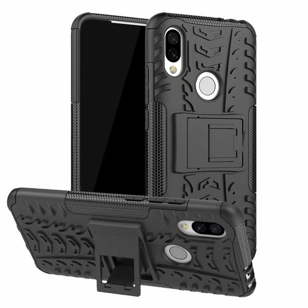 6.26inch For Xiaomi Redmi 7 Rugged Hybrid Armor Heavy Duty Hybrid TPU Stand Impact Plastic Case Hard Shock Proof Cover Cas