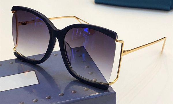 3822 lunettes de soleil de luxe pour femmes designer mode ovale style d'été couleur mixte cadre top qualité protection UV lentille viennent avec cas