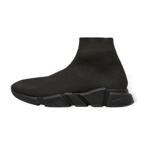 2019 scarpe firmate Speed Trainer sneakers di lusso calzini moda nero bianco glitter verde di alta qualità stivali scarpe casual da corsa traspiranti 0