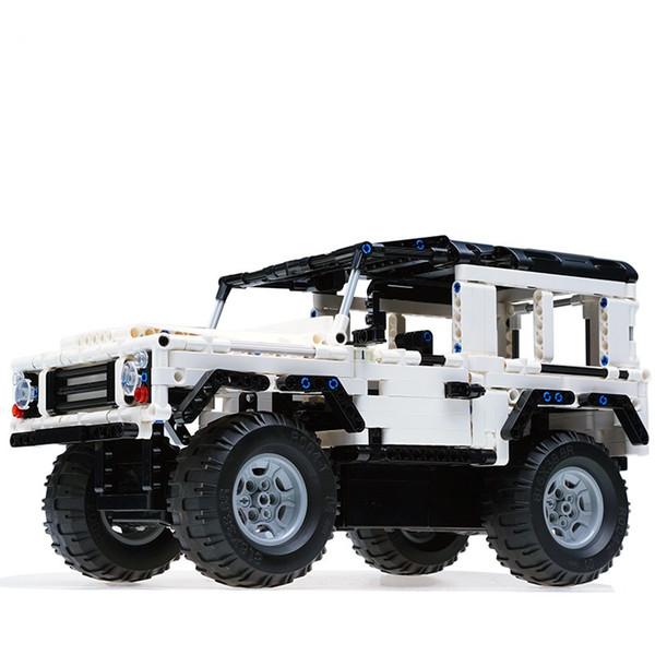 51004 remote control blocks car suv assemble land rover defender charging boy children's educational toys wholesale