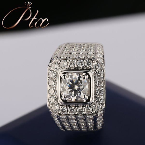 vvs clarity synthetic moissanite 18k white gold ring power sympol ring engagement or weddding ceremony jewelry ring
