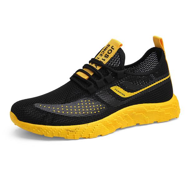 Moda Todos Os Homens Sapatos Casuais Zapatos De Hombre Zapatillas Verão Sapatos de Malha Respirável Homens Sneakers Confortável Tênis Cesta