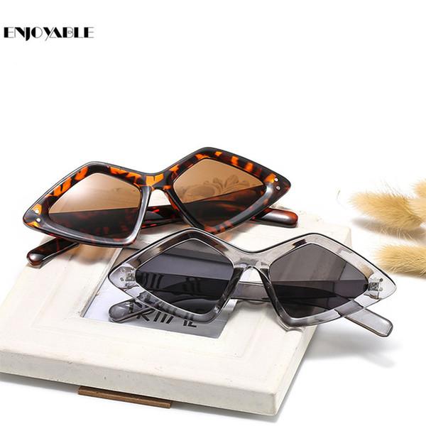 Sunglasses punk women Acrylic rhomb Retro Vintage 2019 New Shade for Feminino Sun Glasses Brand Designer Oculos De Sol G37