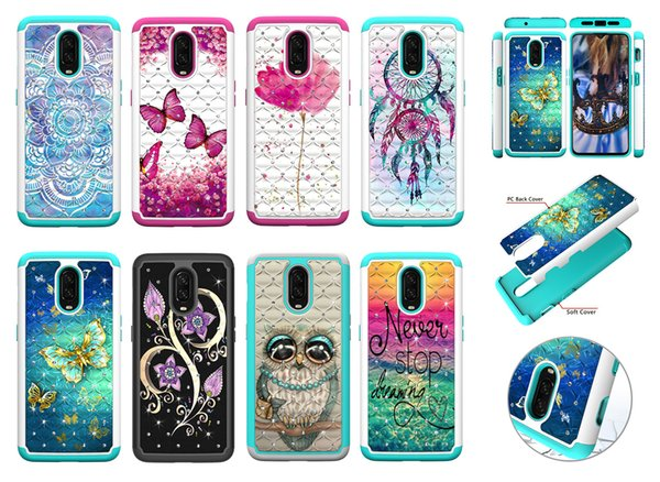 Hybrid Bling Back Case For One Plus 6T Diamond Sparkle Shining Glitter Cover Defender for One Plus 1+6T Dual Layer 02