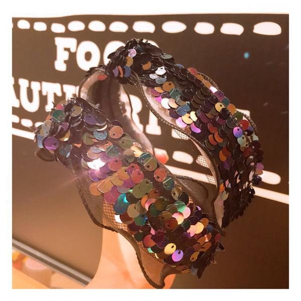 Lindo diadema para las orejas para las niñas 2019 regalo de la fiesta de cumpleaños mujeres oídos Hairband niños lentejuelas arco accesorios para el cabello