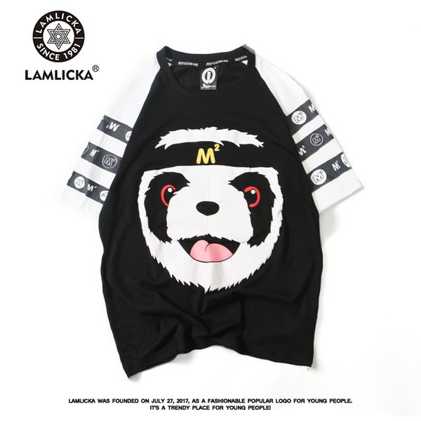 mens designer t shirts t shirt clothes Cartoon Panda Print Short Sleeve T-Shirt Men Women Shoulder Sleeve Cotton Loose Large Size