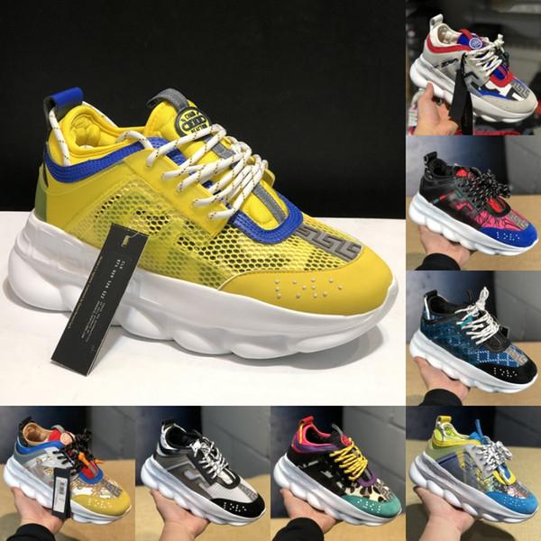 La mejor reacción en cadena Balck White Mesh Rubber Suede Hombres Mujeres Zapatillas de deporte Zapatillas Moda Diseñador de lujo Zapatos Plataforma Zapatos casuales