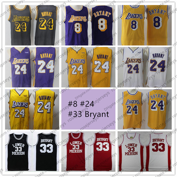 best selling 2020 Lower Merion #33 8 Bryant Jersey 24 Mens Basketball NCAA High Stitched School Shirt Basketball Cheap Jerseys Free Shipping
