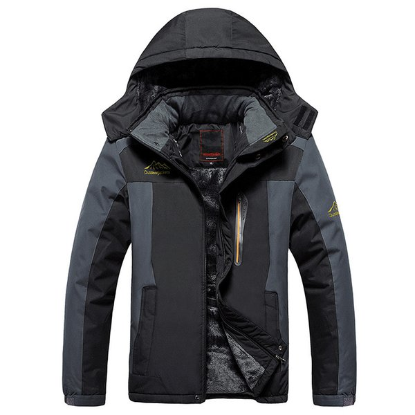 Plus Size 8xl 9xl Winter Fleece Military Down Jacket Coat Men Windproof Waterproof Outwear Down Parkas Windbreaker Army Raincoat T190817