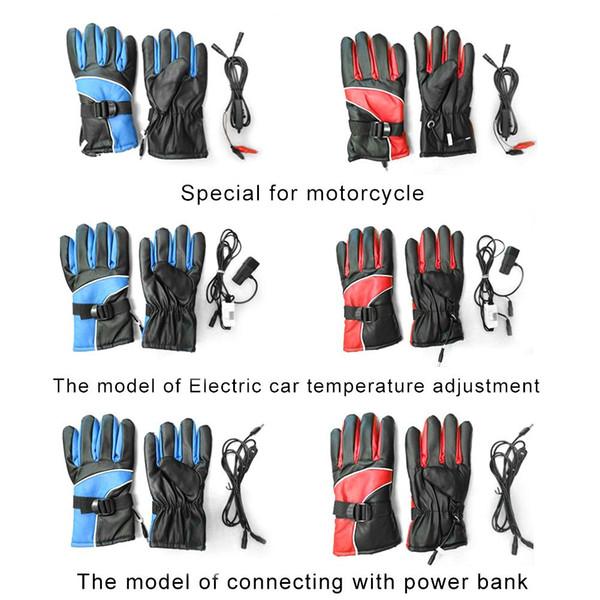 Электрический обогрев перчатки Водонепроницаемые Chargeable перчатки для велоспорта Туризм Лыжи для мотоциклов Четыре уровня настройки Переключатель
