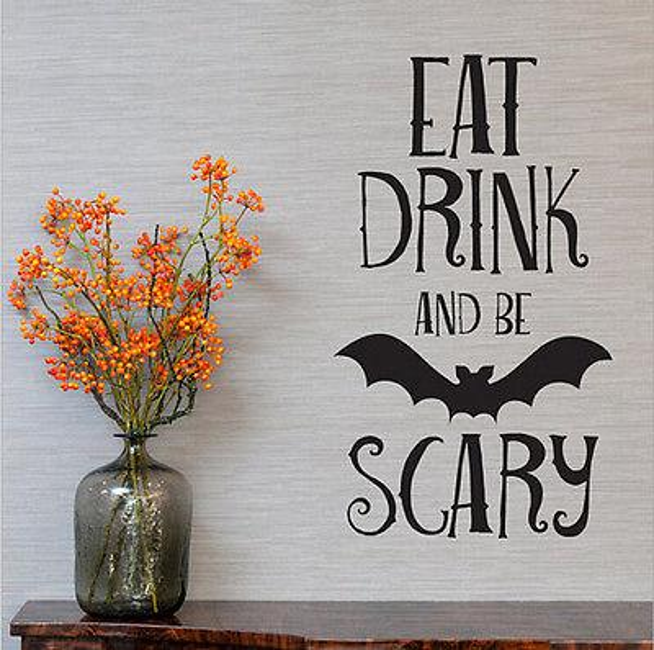 Fashion Halloween Decor Pumpkin Witch Bat Wall Sticker Wall Vinly Decals Home Home Decor Mural