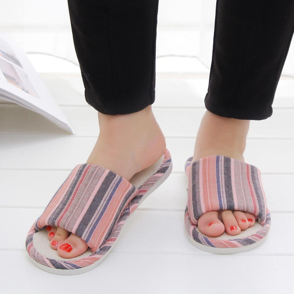 Playa de las mujeres Sand Sands Holiday Shoes Summer Women Casual Cat Home Lino Flip Flop Zapatillas Zapatillas de interior # g2
