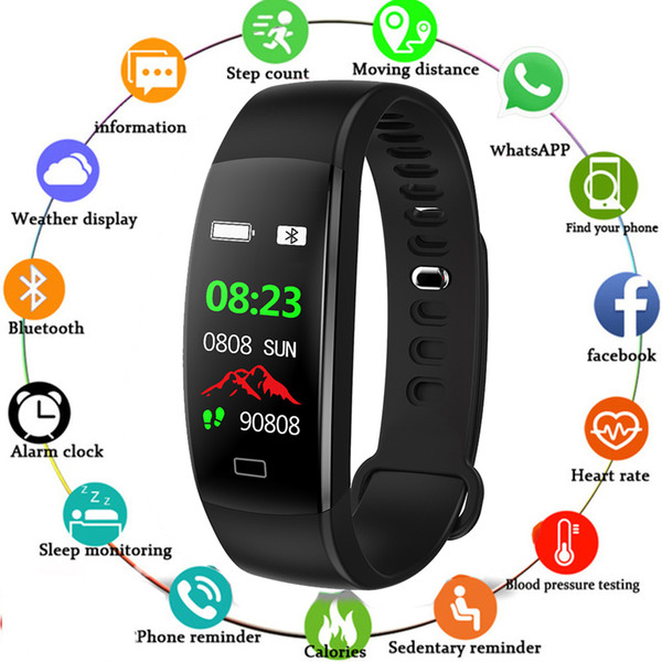 F64 Smart Fitness Bracelet IP68 Waterproof Smart Band Blood Pressure Heart Rate Monitor Electronic Health Wristband PK mi band 3