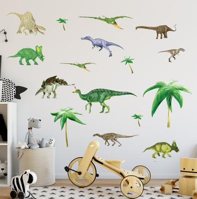 DIY Jurassic World Wall Decals PVC Large Dinosaur Wall Sticker Murals for Kids Room Nursery Wall Decor Removable