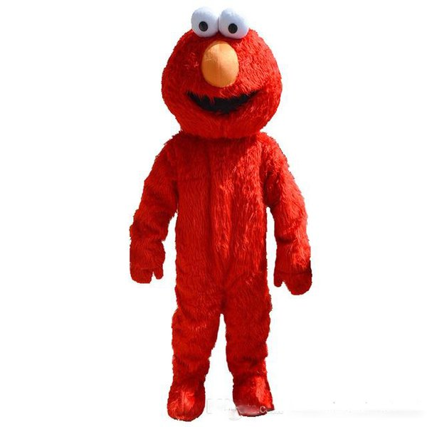 Halloween Sesame Street Elmo Mascot Costume Top Quality Cartoon Red Monster Anime Theme Character Christmas Carnival Party Costumes Adult Mascot