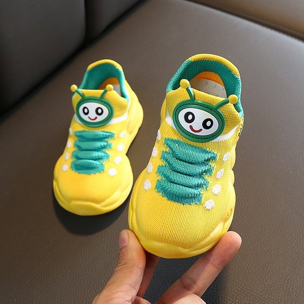 Baby caterpillar shoes autumn breathable single net boys and girls socks shoes autumn thin section children's sports shoes X40