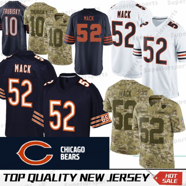 reputable site 39cac 1eaa8 2019 52 Khalil Mack Chicago Bears Jersey 58 Roquan Smith 24 Howard 89 Mike  Ditka 34 Walter Payton 29 Tarik Cohen Robinson II 17 Anthony Miller From ...