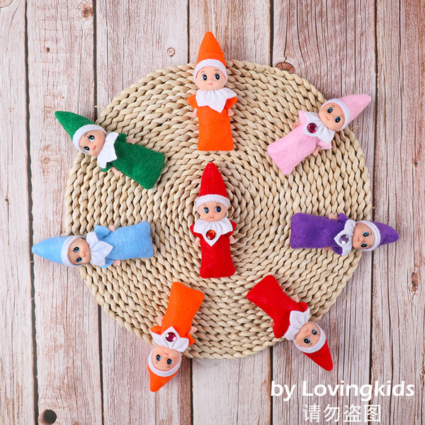 top popular 5 PCS+ Christmas Cute Baby Elf Dolls Baby Elves Dolls Toys Mini Elf Xmas Decoration Doll Kids Toys Childrens Gifts 2021