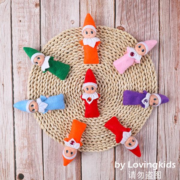 top popular 5 PCS+ Christmas Cute Baby Elf Dolls Baby Elves Dolls Toys Mini Elf Xmas Decoration Doll Kids Toys Childrens Gifts 2020