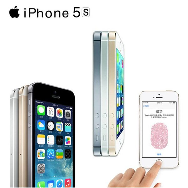 Original Apple iPhone 5S Dual Core 16GB/32GB/64GB ROM 1GB RAM 8MP Camera IOS Touch ID Unlocked Refurbish Smartphone