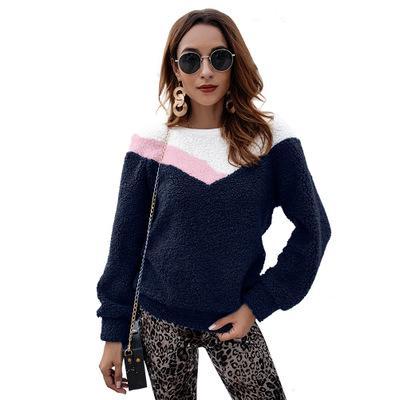 2018 frauen pullover hoodies mode herbst und winter neue langärmelige damen oansatz hemd pullover perfekt für streetwear