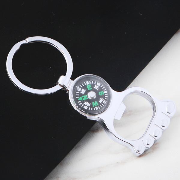 Key Portable Bottle Opener Beer Bottle Can Opener Hangings Ring Keychain Tool HK