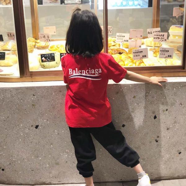 Crianças Designer Meninas T Camisas Meninos Carta de Luxo Printe Mangas Curtas Moda Cor Sólida Tees Tops Novo Verão T-shirt 2 Pcs