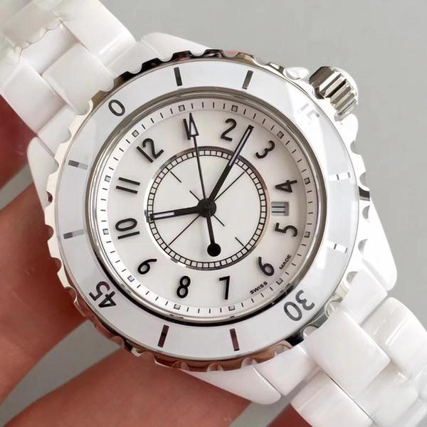 Vendita calda di lusso da donna in ceramica bianca nera orologi da polso al quarzo di alta qualità moda donna da donna orologi da polso