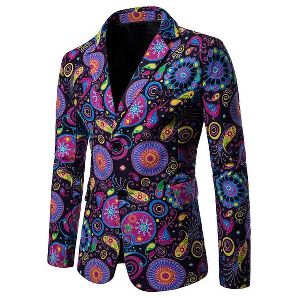 2019 designer Uomo Abbigliamento Designer di lusso Giacca da uomo con stampa blazer Giacca elegante fantasia floreale Males Abiti Blazer 7.24