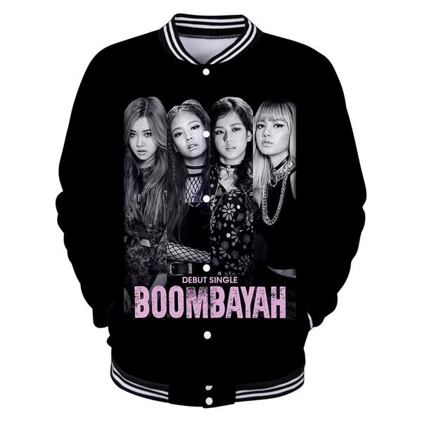 Veste 3D Hip Hop Harajuku Sweats À Capuche Femmes Survêtement designer vestes Korean Streetwear Manteau Vêtements BLACKPINK