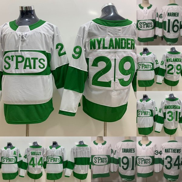 William Nylander Maple Leafs 2019 Toronto St. Pats Toronto Jersey 34 Matthews 16 Mitch Marner 91 Tavares 31 Andersen 44 Morgan Rielly Jersey