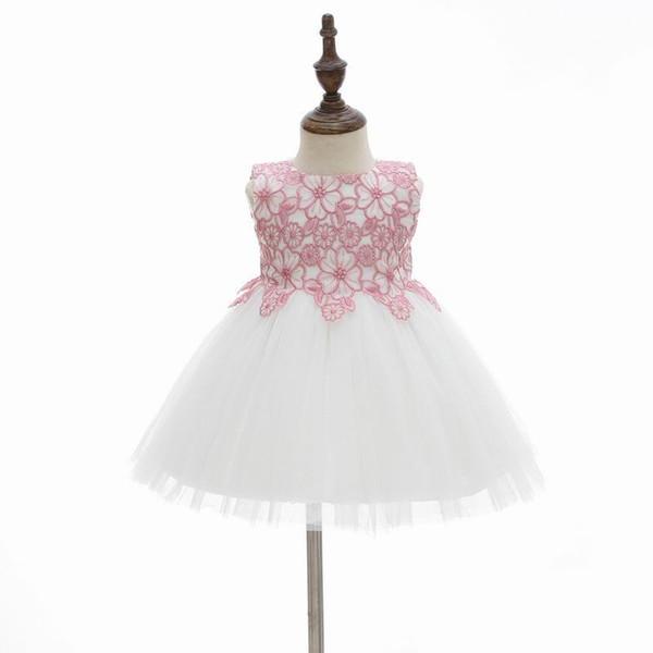 Großhandel 2019 Neue Baby Mädchen Taufkleid Erste Geburtstag Stickerei Prinzessin Taufe Kleid Kleinkind Baby Kleidung 9791bb Von Rongrong2009 8644
