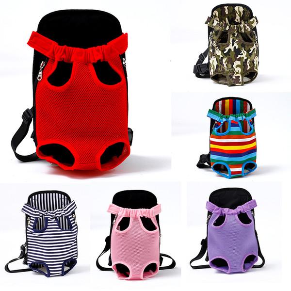 Mochila portadora de mascotas, bolsa de viaje ajustable para mascotas, mochila portadora de perros, gato frontal para mascotas, patas hacia fuera, fácil ajuste para viajar Senderismo Camping