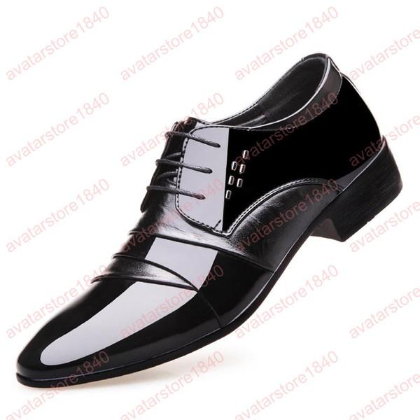 Erkekler için oxford elbise ayakkabı patent deri ayakkabı erkekler düğün ayakkabı erkekler resmi lüks