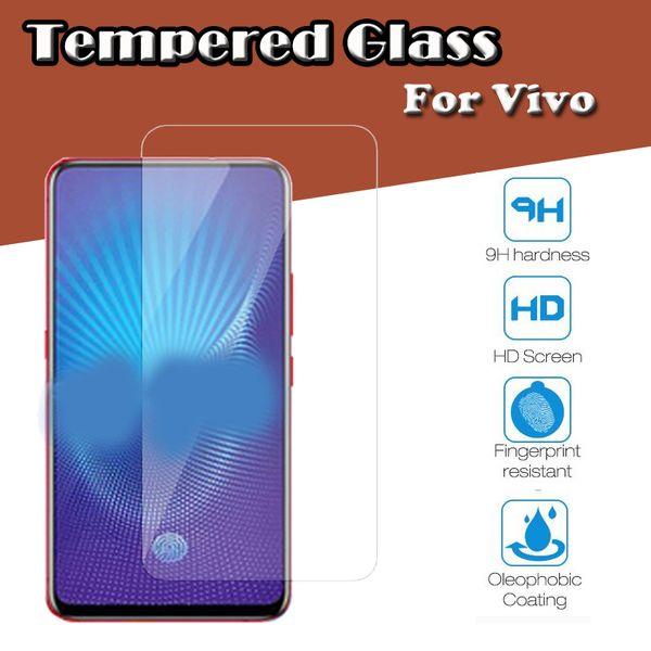 100pcs Tempered Glass 9HD Screen Protector Film For Vivo Y97 Y95 X Play 6 5 X27 Pro V15 NEX S A Z3i Z3x 2.5D High Clear Guard