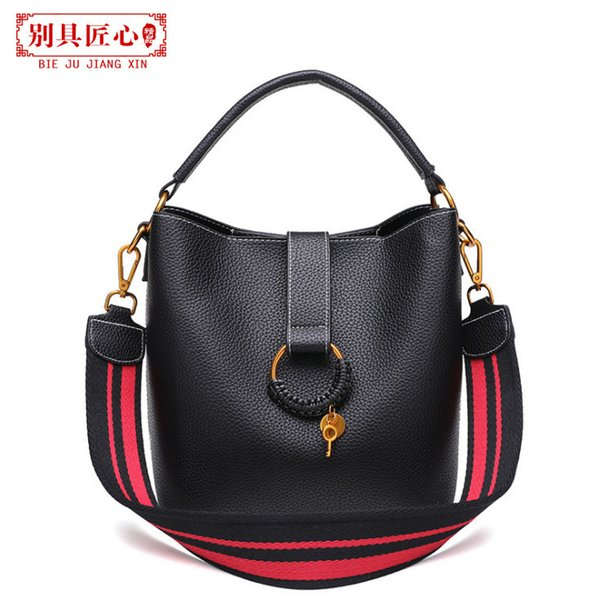 Elegant2019 Straps Wide All-match Child And Mother Bucket Package Hand Bill Of Lading Shoulder Span Ma'am Bag