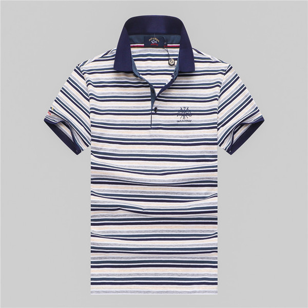 2019 Italy fashion Classic polo designer Brand new men polo t shirts short sleeve embroidery Letter mens polos 3XL