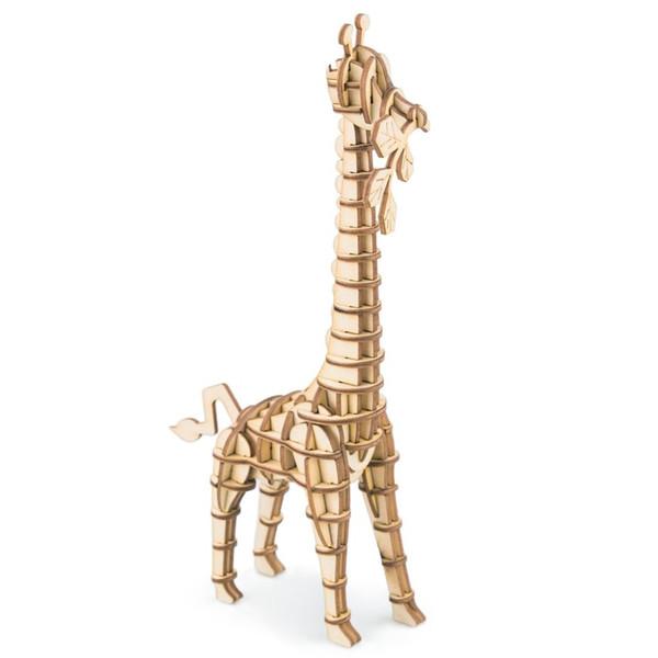 Juego de rompecabezas de madera al por mayor 3D aficiones de juguete kits de construcción modelo para niños educativos bebé niño juguete popular Jirafa TG206