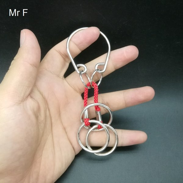 Kid Gift Double Ring Wire Puzzle 3D Pensiero Cervello Rompicapo